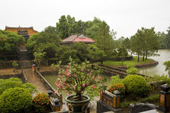 M.Mang garden in the rain,Huè Royalty Free Stock Photos
