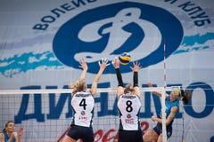 M Maryuhnich ( 4) und I Voronkova ( 8) Block Stockbild