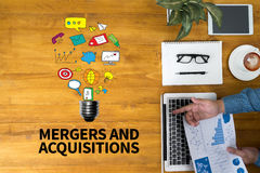 M&A (MERGERS AND ACQUISITIONS) Royalty Free Stock Image