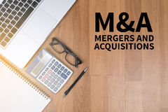 M&A (MERGERS AND ACQUISITIONS) Royalty Free Stock Photography