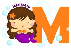 M for mermaid Royalty Free Stock Images