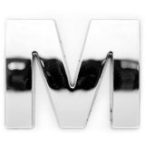 M - Metal letter royalty free stock photos