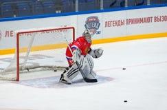 M Mikhaylovsky ( 20) auf dem Tor Stockfoto