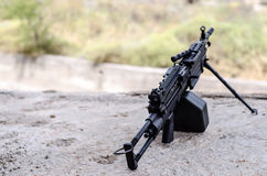 M249 minimi light machine gun Royalty Free Stock Images