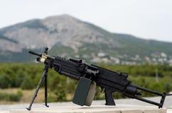 M249 minimi light machine gun Stock Images