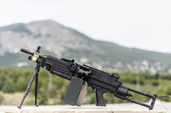 M249 minimi light machine gun Stock Photos