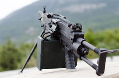 M249 minimi light machine gun Stock Photo