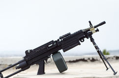 M249 minimi light machine gun Stock Photography
