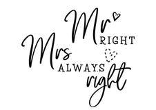 M. Mme toujours droite illustration libre de droits