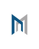M or MN initial icon financial business insurance abstract Royalty Free Stock Images
