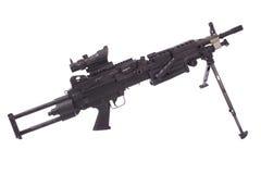 M249 moderno mitragliatrice dell'esercito americano Fotografie Stock Libere da Diritti