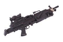 M249 moderno mitragliatrice dell'esercito americano Fotografia Stock