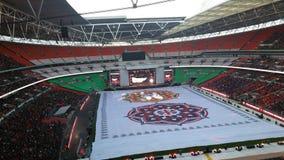 M. Modi dans le stade de Wembley Photo libre de droits