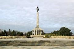 M?morial militaire de Slavin ? Bratislava, Slovaquie photographie stock libre de droits