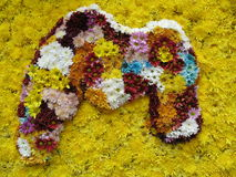 M for Mother. The Letter M made entirely of flowers Stock Photo
