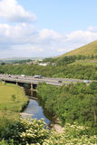 M6 motorway crossing River Lune at Tebay, Cumbria Stock Images