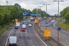 M motorway near West Bromwich,Birmingham,Uk Royalty Free Stock Images