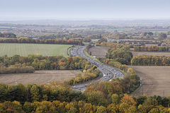 M40 Motorway in Oxfordshire England Stock Images