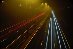 M5 Motorway at Worcester Royalty Free Stock Images