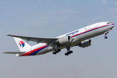 9M-MRP Malaysia Airlines, Boeing 777-2H6ER Fotografia de Stock Royalty Free