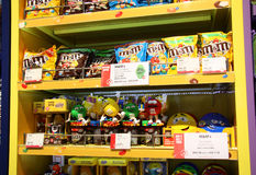 M&Ms candies shelf in a store Royalty Free Stock Photography