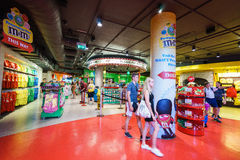 M&Ms World store. In in Leicester Square, London, England Royalty Free Stock Images