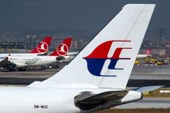 9M-MUC Maskargo, den Malaysia Airlines flygbussen A330-223F fungerade vid Turkish Airlines Royaltyfri Bild