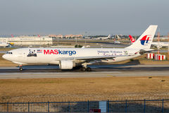 9M-MUD Maskargo, Airbus A330-223F with Panda Sticker Stock Images
