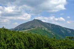 1602 m n高峰snezka M 库存图片