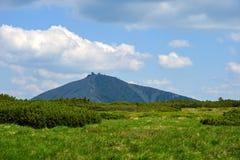 1602 m n高峰snezka M 图库摄影
