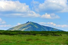 1602 m n高峰snezka M 库存照片