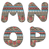 M N O P decor letters Royalty Free Stock Images