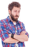 Mаn in plaid shirt Royalty Free Stock Images