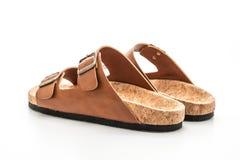 m?ns och kvinnors (piskar unisex-) mode sandaler royaltyfri foto