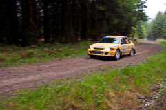 M. O' Connor driving Mitsubishi Evo Stock Photography