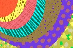 M?o criativa do fundo da arte tirada em cores vibrantes collage Vetor Texturas para o cartaz do convite da tampa do cart?o do car ilustração do vetor