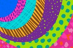 M?o criativa do fundo da arte tirada em cores vibrantes collage Vetor Texturas para o cartaz do convite da tampa do cart?o do car ilustração royalty free