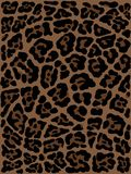 M?o da pele do leopardo tirada desenho animal da c?pia Teste padr?o sem emenda ilustração royalty free