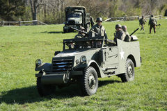 M3A1 o escuteiro Car durante o evento de Armor Experience no museu da armadura americana fotos de stock