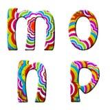 M, o, n, p, ilustração colorida da pia batismal da onda. Fotos de Stock Royalty Free
