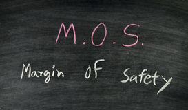 M.o.s.,margin of safety Stock Photo