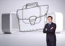 Młoda biznesmen pozycja crossarmed Fotografia Royalty Free