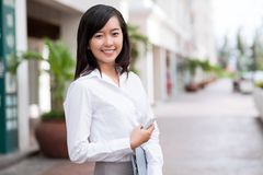 Młoda biznesowa dama Zdjęcia Stock