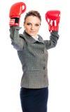 Młoda Biznesowa kobieta, biznesowy czempion Fotografia Stock