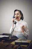 Młody Biznesowej kobiety krzyczeć Fotografia Stock