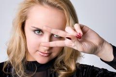 Młoda blond dziewczyna Zdjęcie Royalty Free