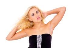 Młoda blondynka z makeup Obrazy Stock