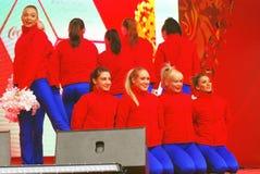 Młoda dama taniec na scenie Obrazy Royalty Free