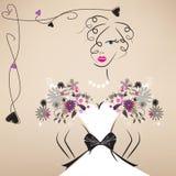 Młoda dama w uroczej sukni Obraz Royalty Free