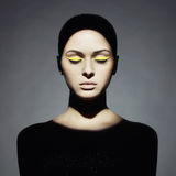 Młoda dama z sztuki makeup Zdjęcia Stock